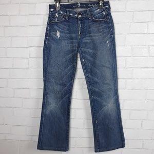 7FAMK Distressed Bootcut Jeans F8